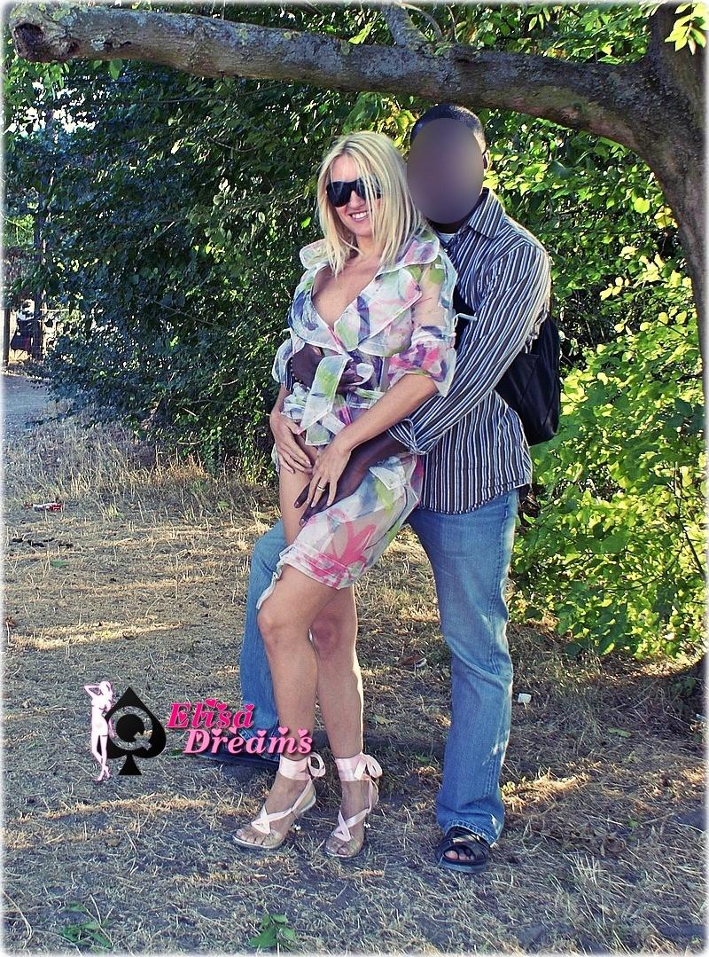 Elysa s'exhibe avec un amant Black