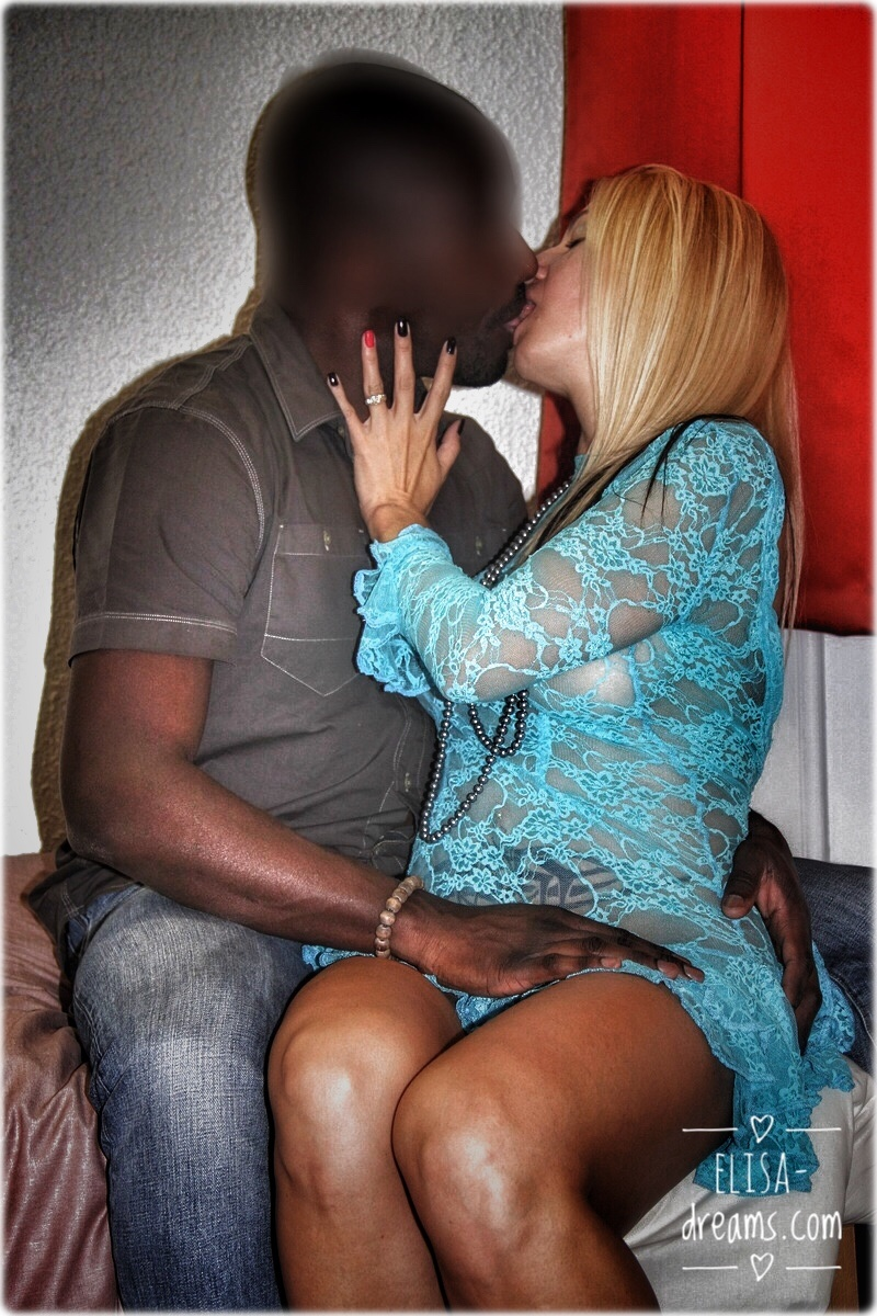 My wife kissing her Black lover
